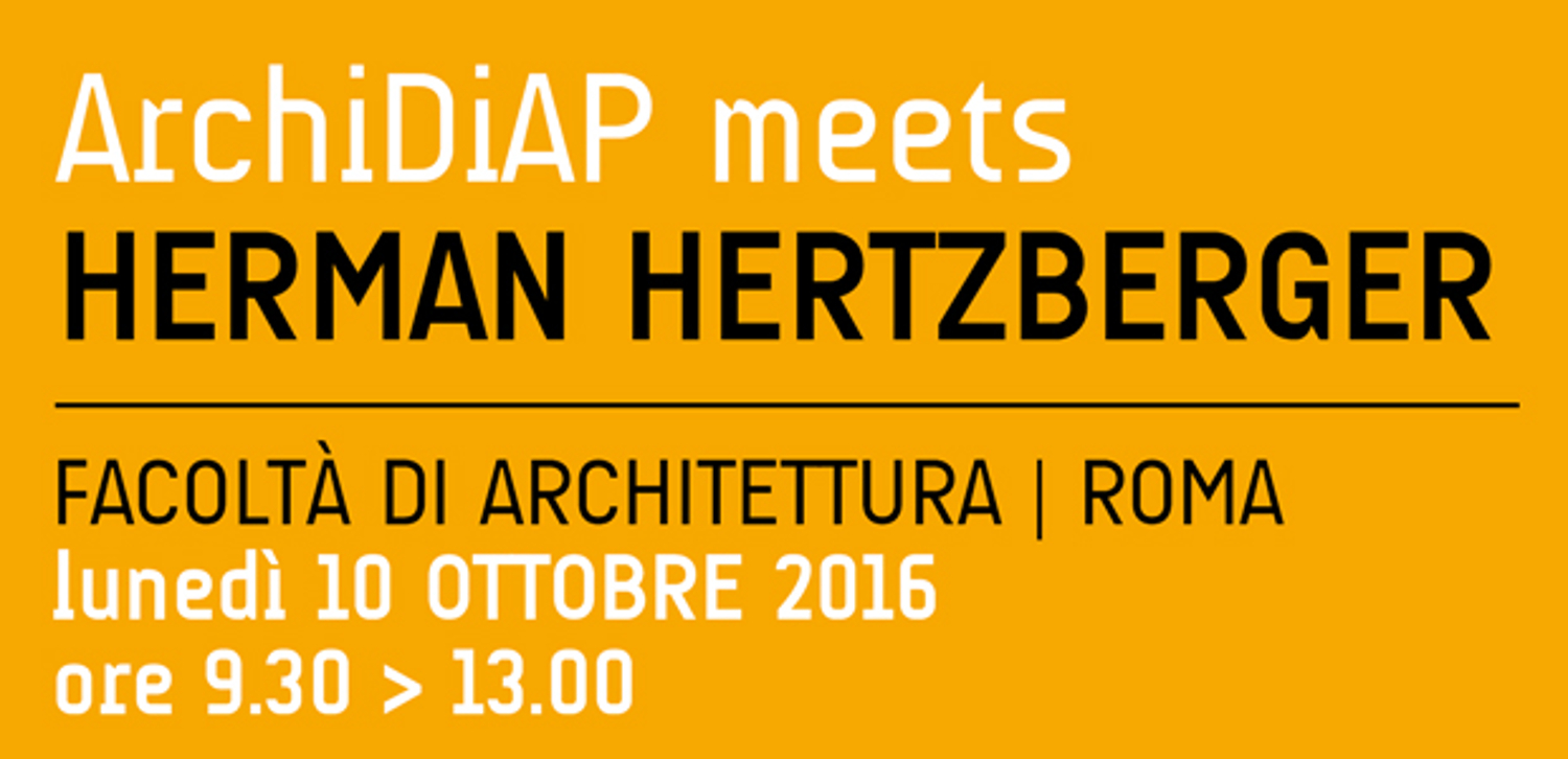 Lecture in Rome ArchiDiAP October 10